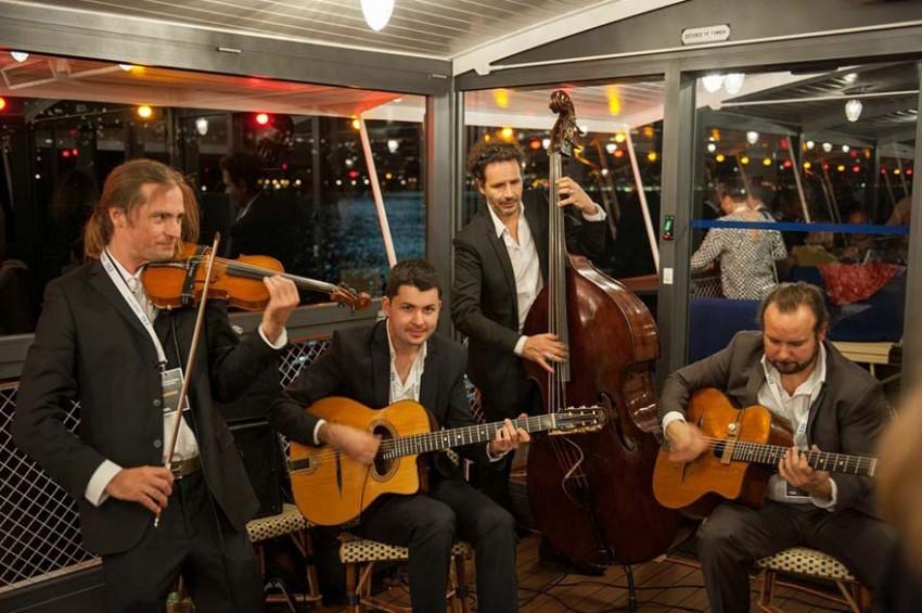 Quartet jazz manouche avec violon Lac Lément Suisse Montreux