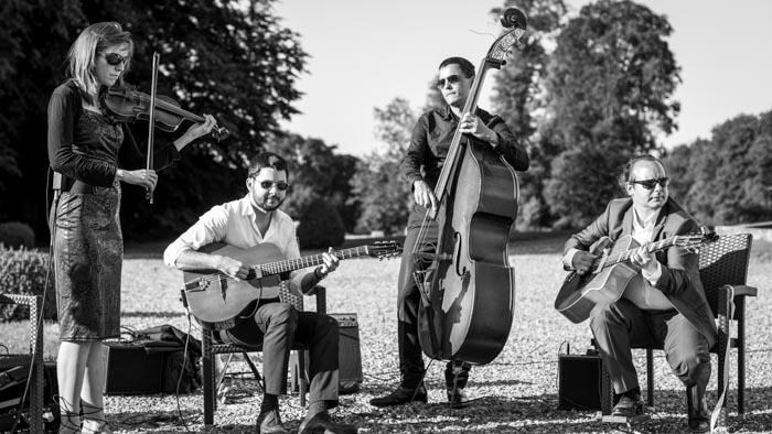 Photo quartet violon mariage chateau champlatreux-1