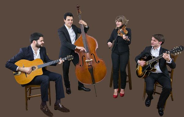 Quartet jazz manouche et swing avec violon pour soirée