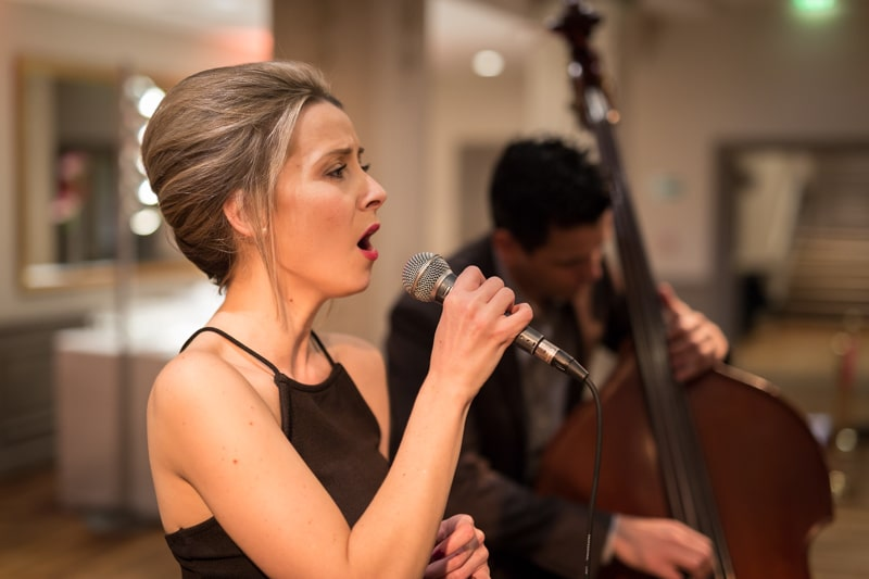 Chanteuse de jazz mariage