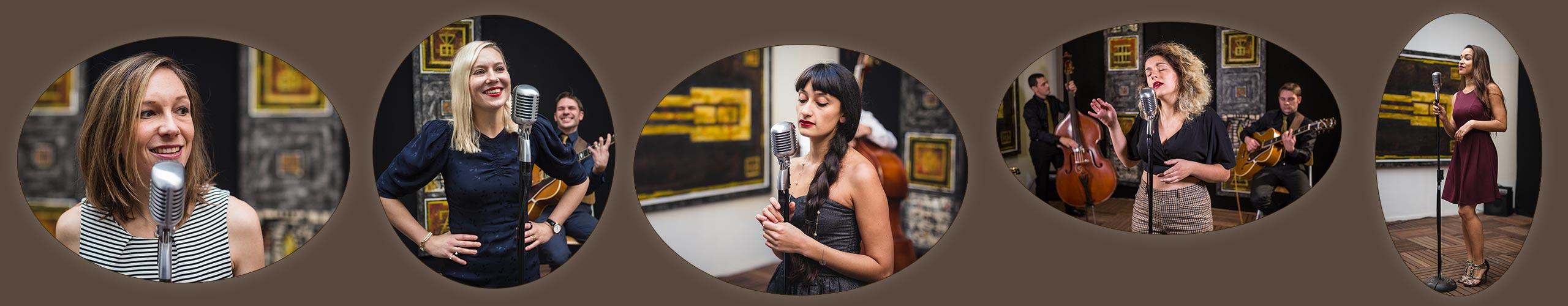 Bannière chanteuse de jazz